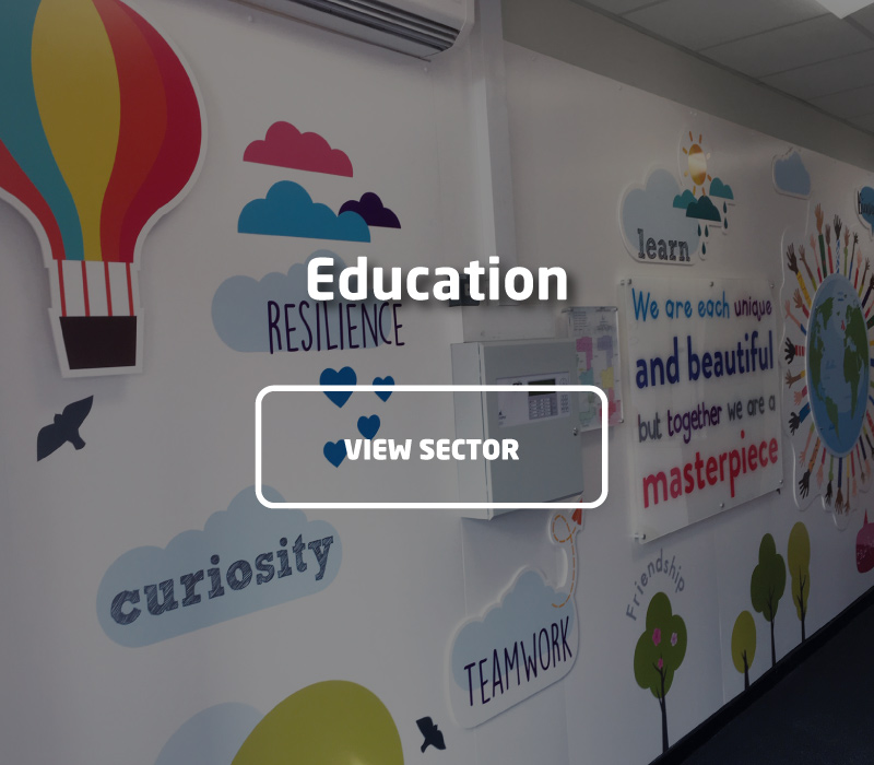 Visual Branding & Signage Projects for Education | Impression Ltd, Bolton