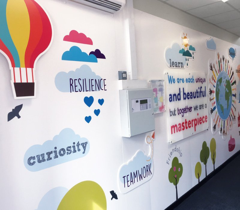 Internal Wall Signage for Primary Schools