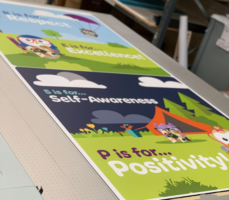 Signage Production for Primary Schools